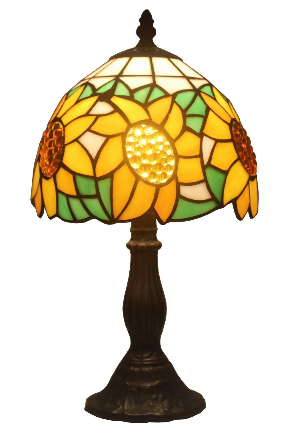 Tiffany Style Lamp Shades Amusing Tiffany Style Sunflower Table Lamp 15  Sunflowers Design Decoration