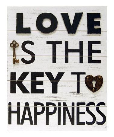 Take A Look At This Love Is The Key To Happiness Wall Plaque By New View On Zulily Today Key To Happiness Key Crafts Skeleton Key Crafts