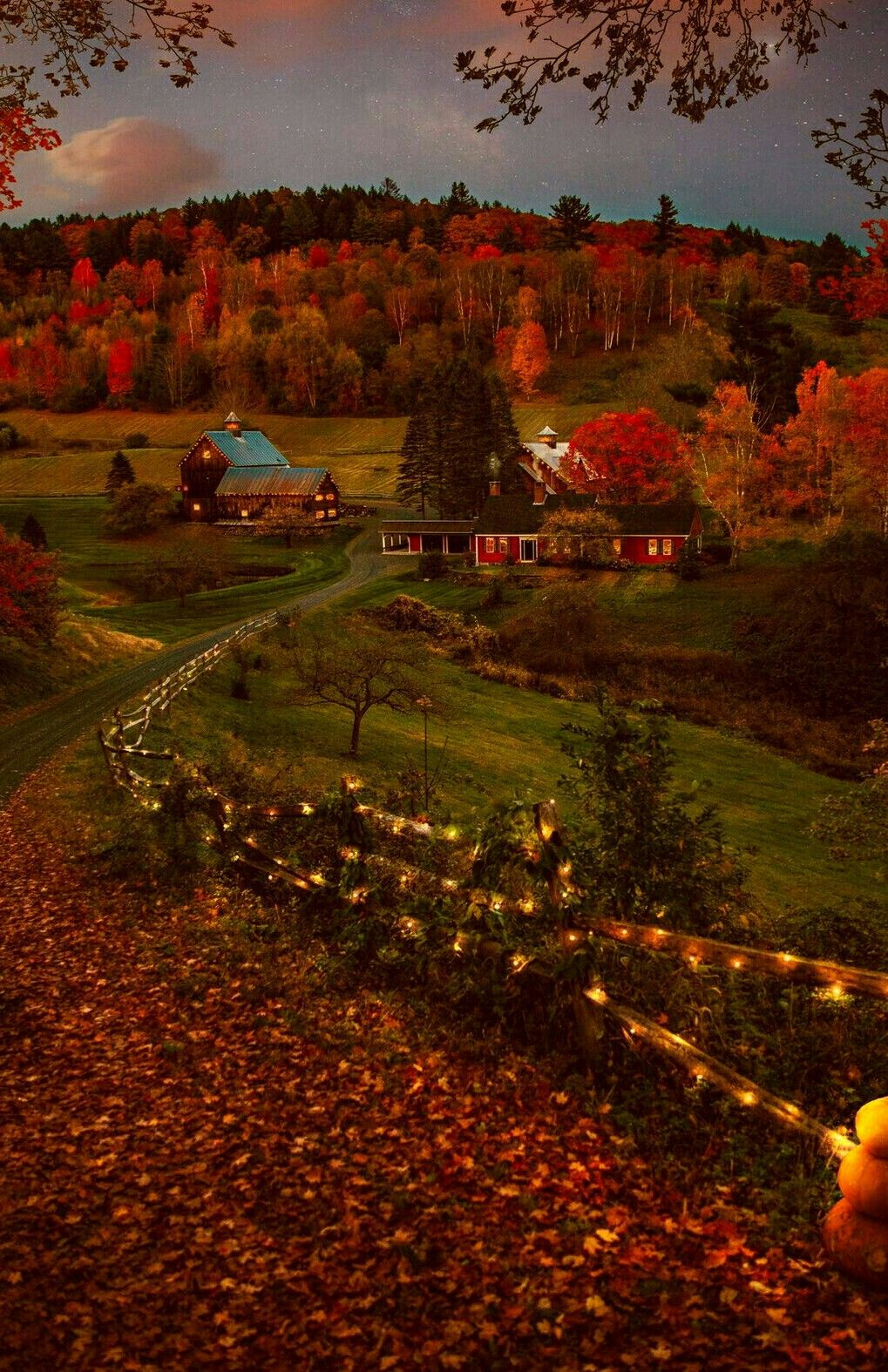 Sleepy hollow farm, Woodstock, Vermont. #autumnscenes
