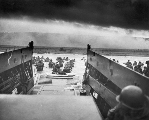 D-Day and Operation Overlord in WW2. No matter how bad life seems, I'm not doing this.  Perspective.