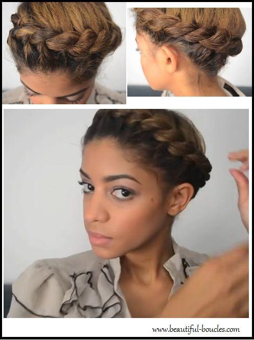 Tutoriel Couronne Aureole Torsadee Pour Cheveux Boucles Ou Frises 2