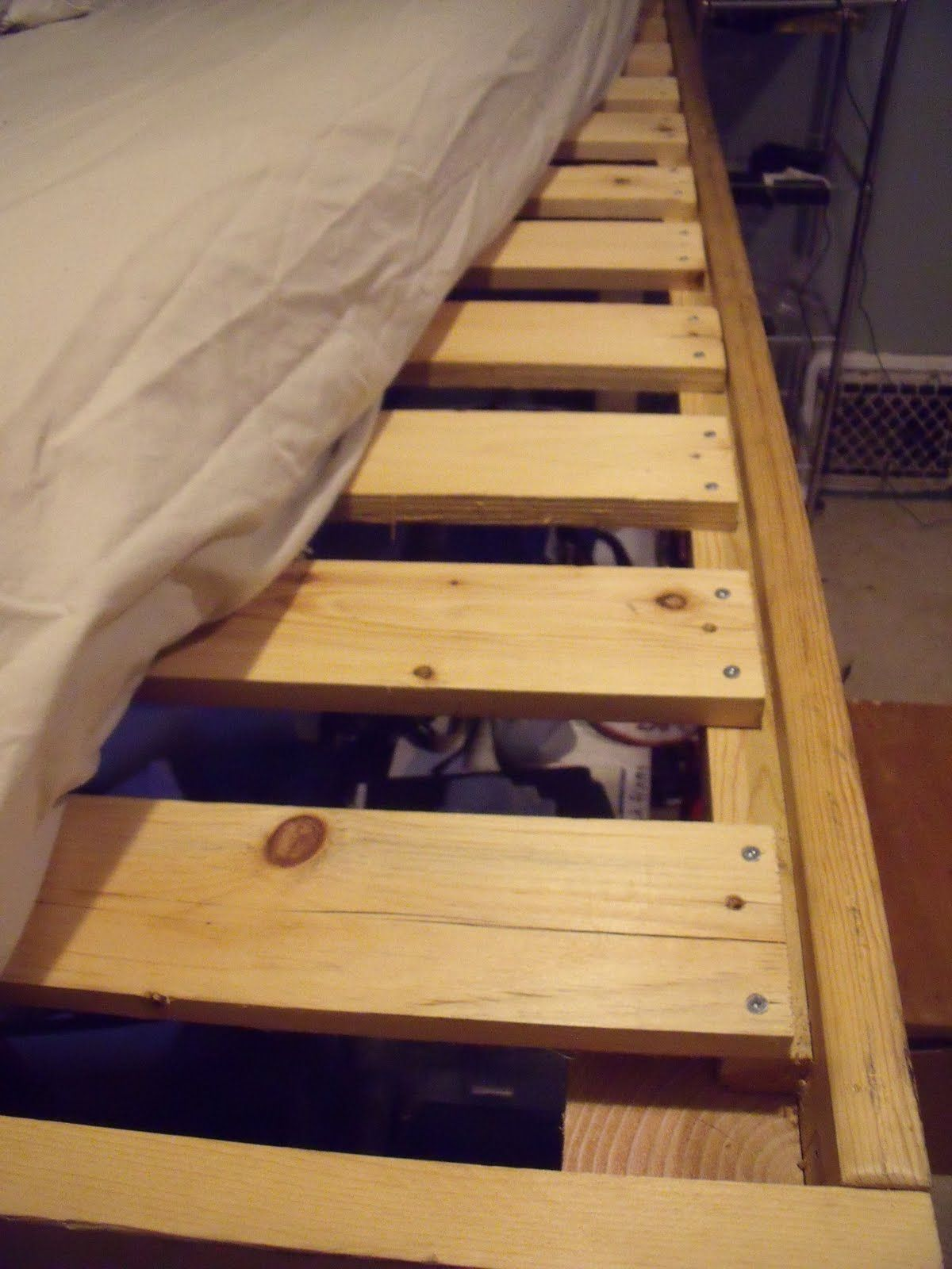 Diy 4x4 Bunk Beds Use 1x4 S As You Bed Support E Them About 2