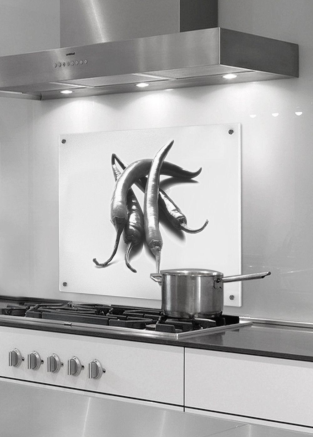 Küchenrückwand glas motiv  Amazon.de: Küchenrückwand aus Glas (ESG) - Motiv Peperoni - Format ...