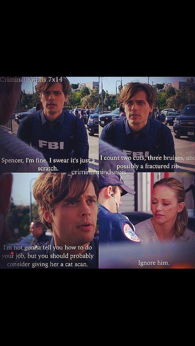 Awww Reid is so concerned | Criminal Minds--favorite TV show!! in