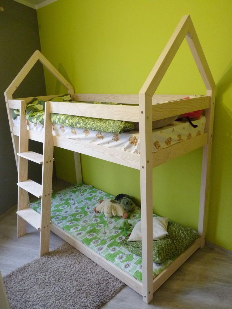 Children Bed House Without Mattress 8 Dimensions Kids Bunk Bed Loft Bed Frame Kinderbett Kinderhaus Kinderbett Doppelstockbett
