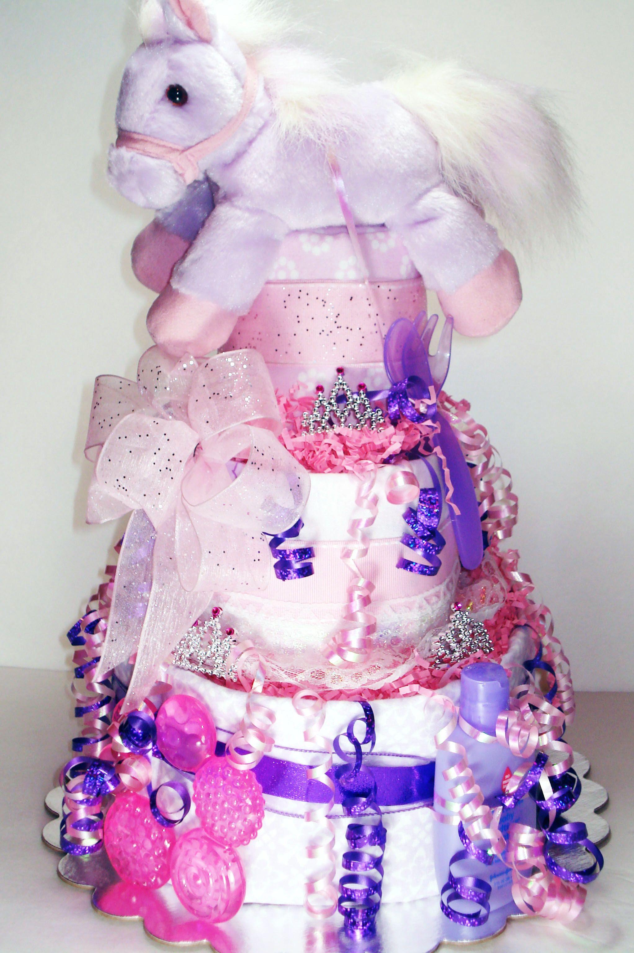 Princess Pony Diaper Cake