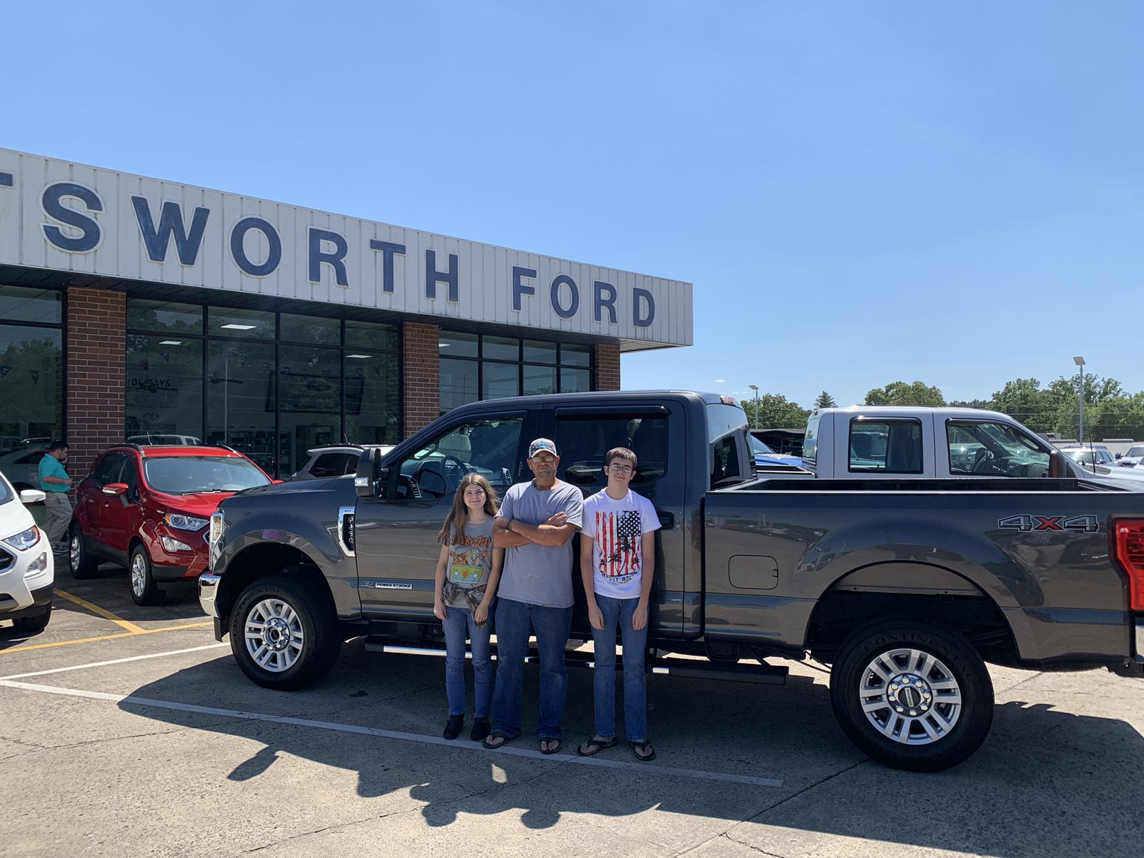 congratulations to the taylor family of resaca ga on your new 2018 f 250 sold by dustin patrick safe travels ford news car ford things to sell pinterest