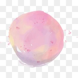 Round Pink Watercolor Graffiti Vector Png Watercolor Brush