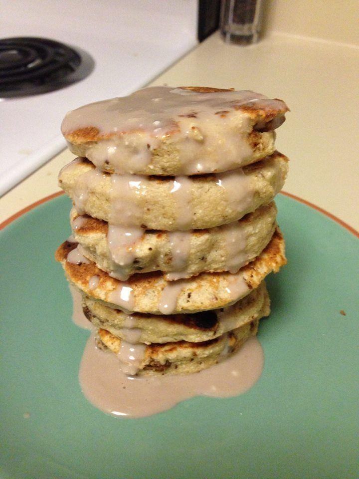 Coconut chocolate chip cookie dough pancakes chocolate
