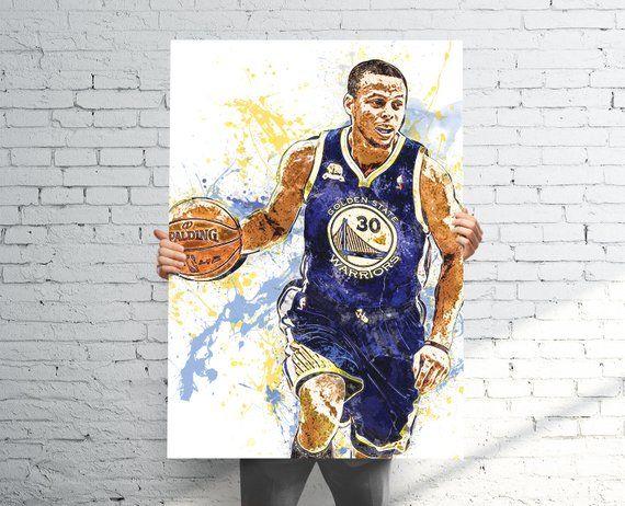 Stephen Curry (v2) Golden State Warriors Sports Art
