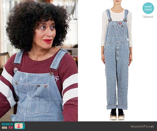 861a150c6c52 Rainbow s striped overalls on Black-ish. Outfit Details  https   wornontv
