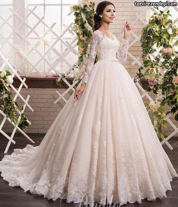 شنل آستین دار عروس مدل لباس عروس پوشیده آستین دار | مدل لباس زنانه و مردانه ...