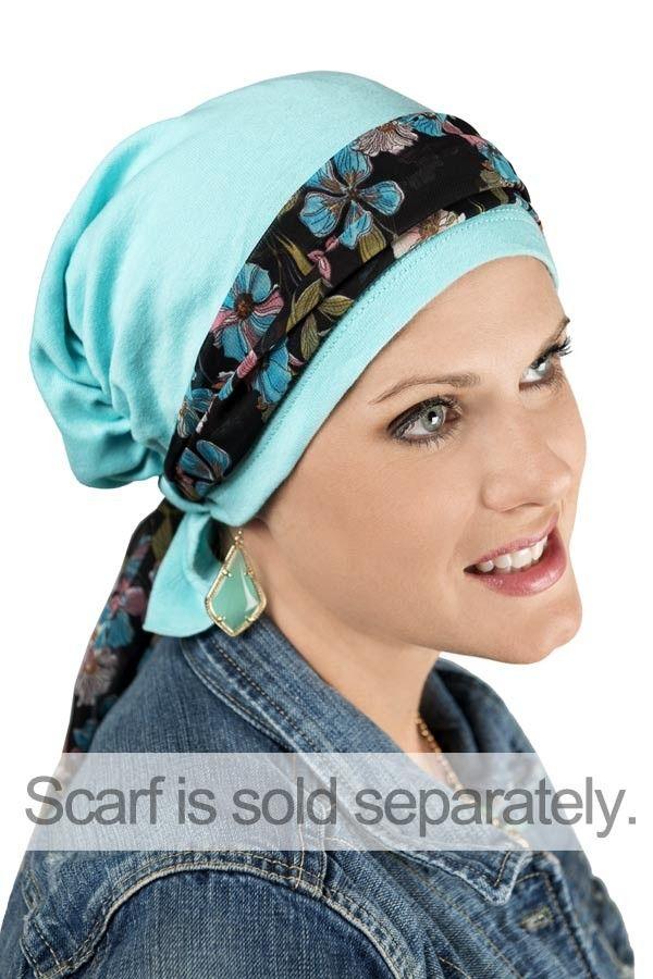 a910b3d5e518d Scarf Beanie™ Chemo Pre-Tied Scarves for Cancer Patients Scarves For Cancer  Patients