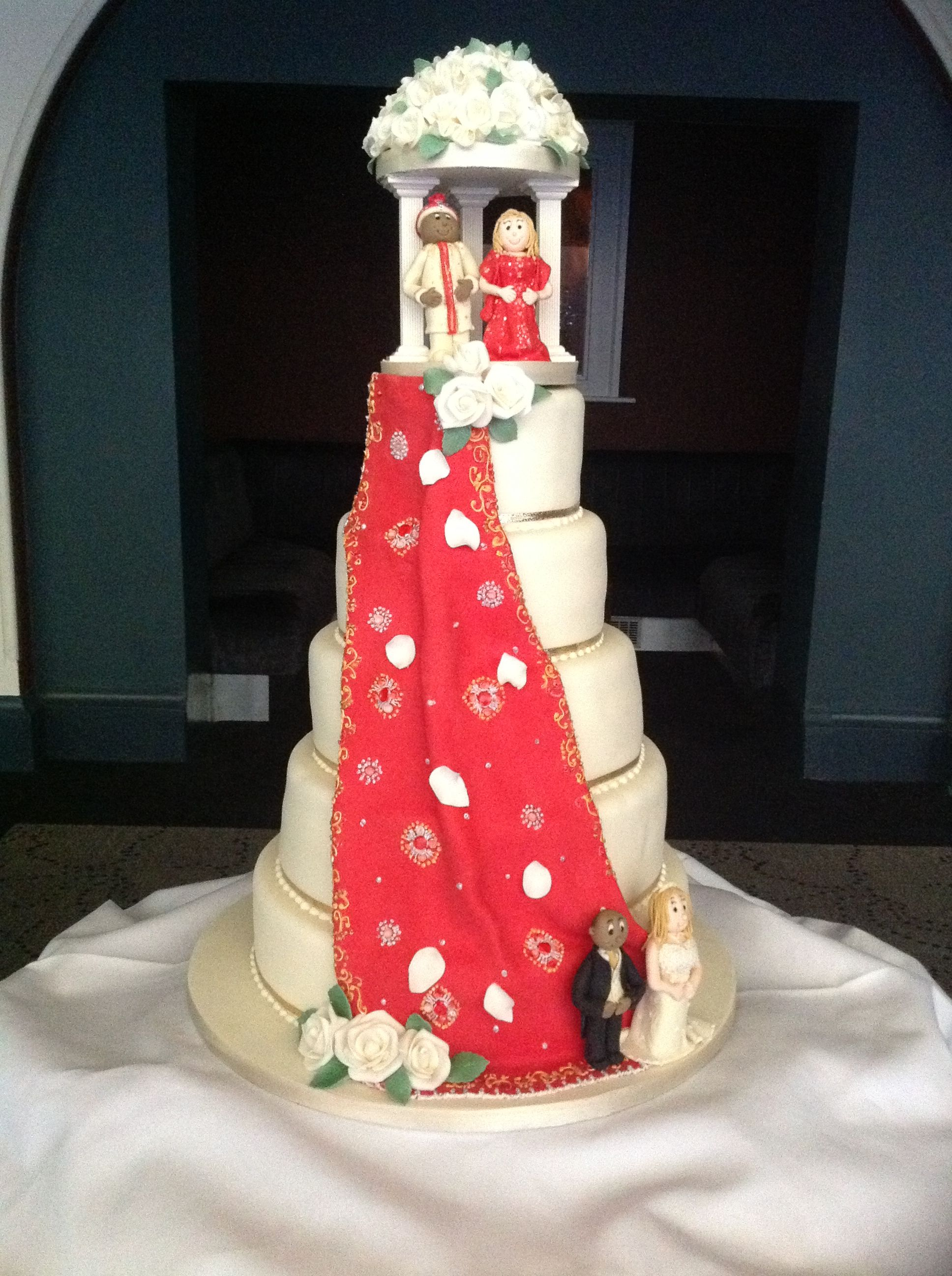 english wedding cakes recipes mandap cake for a fusion of and asian cultures 14026