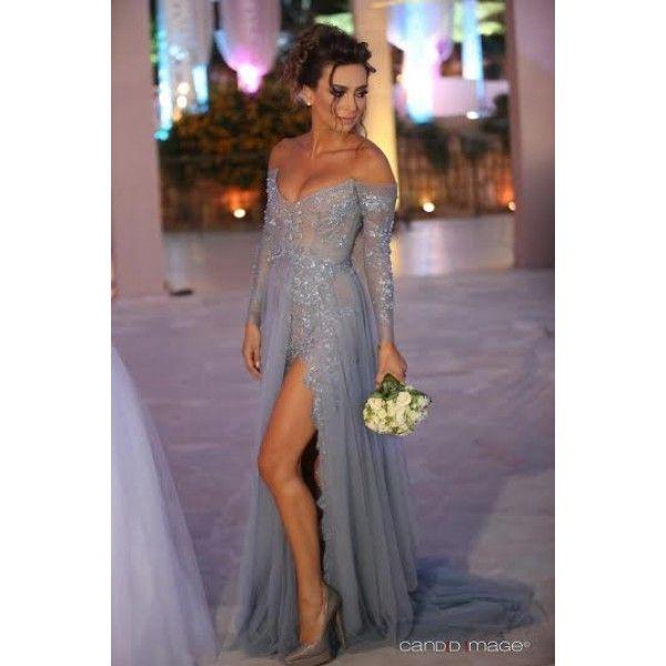 Khloé Kardashian Low Cut Long Sleeve Formal Gown Elton Johns ...