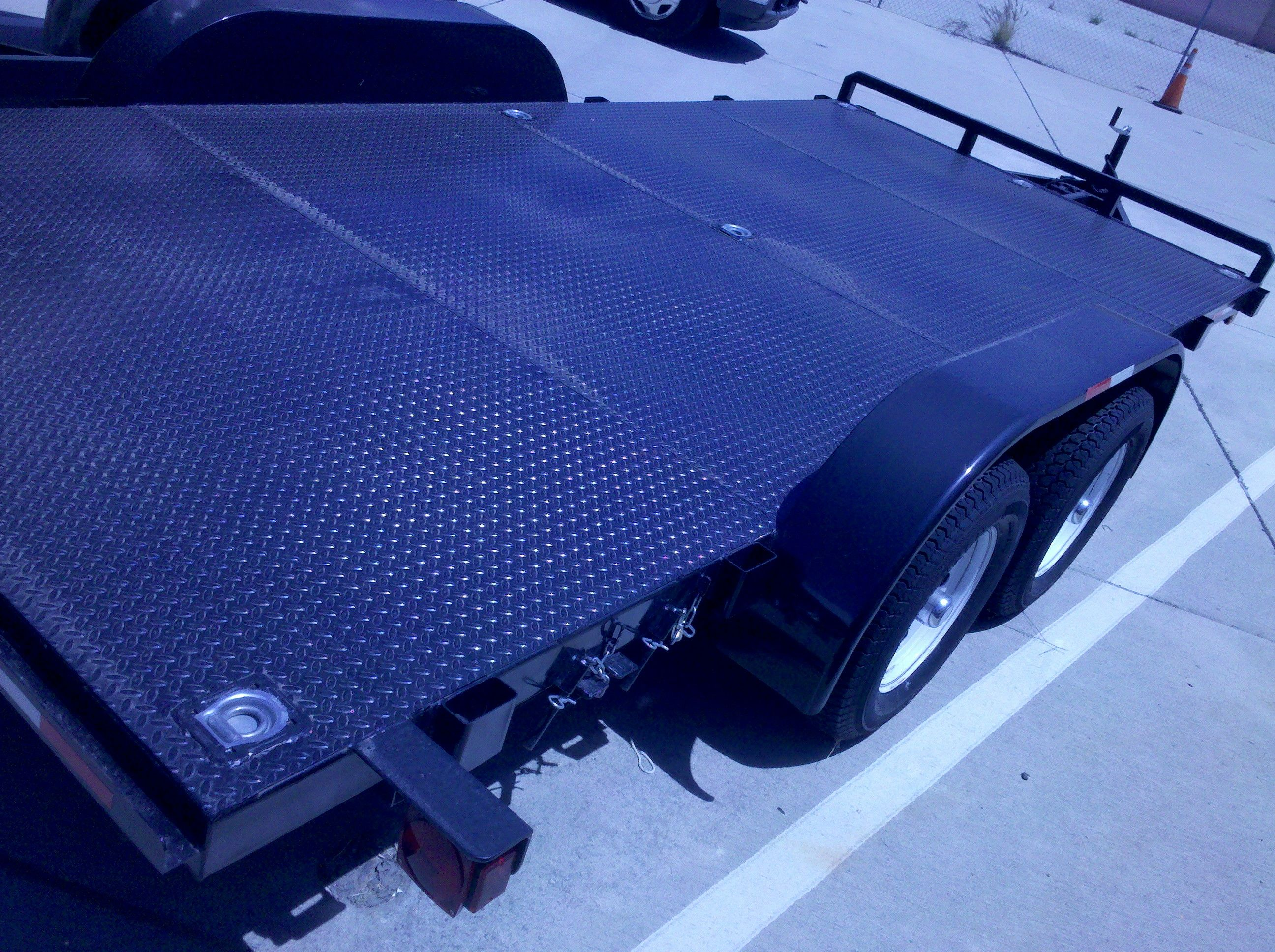 Standard Car Carrier With Full Diamond Plate Deck 83 Between Fenders Plus Front Bumper Stop And 6 Slide Out Ramp Car Carrier Car Trailer Hauling Trailers