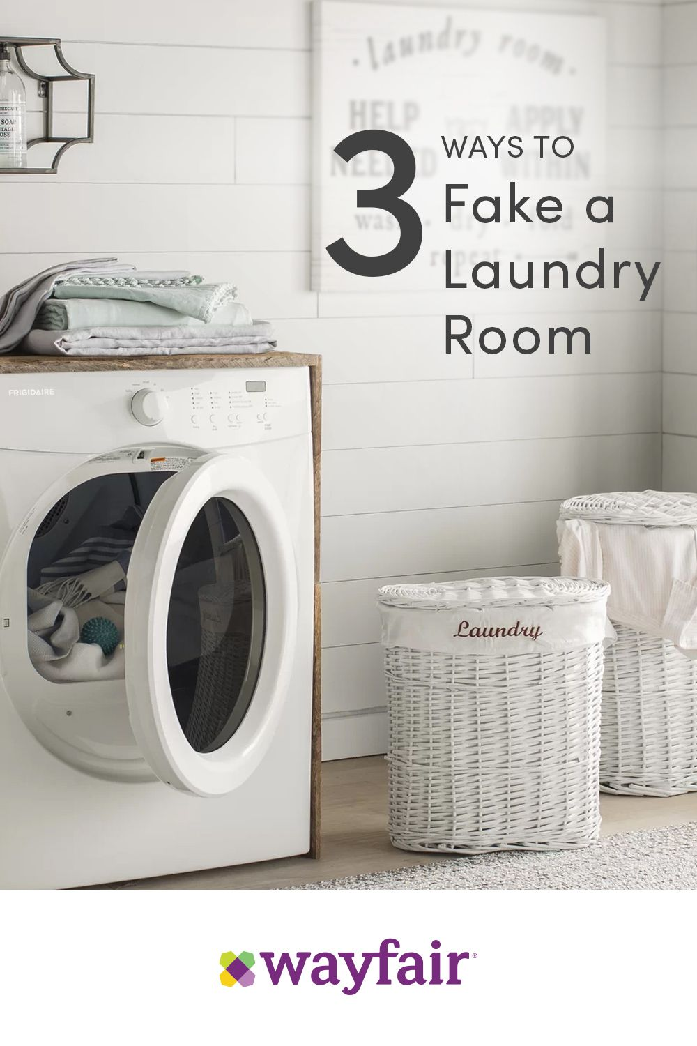Sign Up For Wayfair To Get Updates On All Things Wayfair Find Dream Home Inspiration G Laundry Room Update Shower Curtain Decor Laundry Room Design