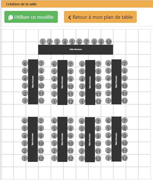 Modele Plan De Table Avec Des Tables Rectangulaires Disposees En