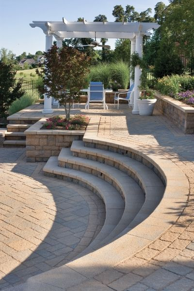 Raised Patio With Steps: This Raised Patio With A Cabana Is One Of The 'outdoor