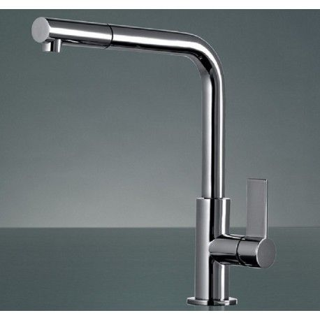 FRANKE NEPTUNE PULL OUT SPRAY CHROME KITCHEN SINK MIXER TAP ...