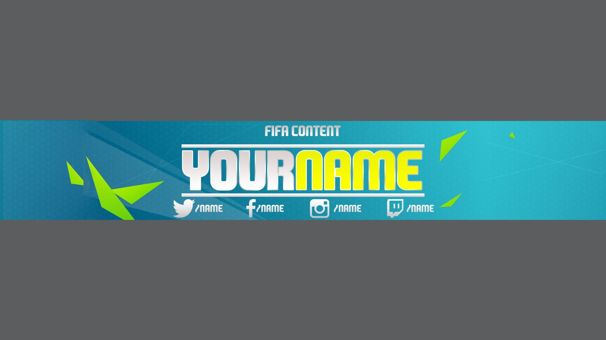 Fifa 16 YouTube Channel Art Banner Template ZIP F | BrayPlayGames ...