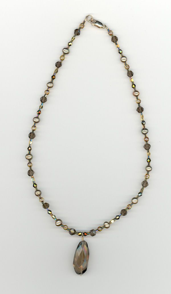 Necklace with focal
