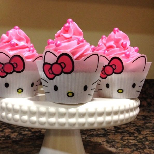 Hello Kitty Cupcakes Perfect For My Little Girls Birthday Parties