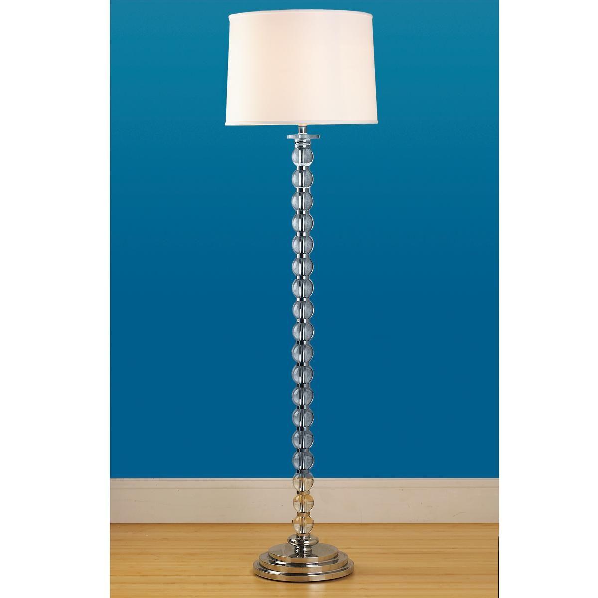 Stacked Crystal Ball Floor Lamp
