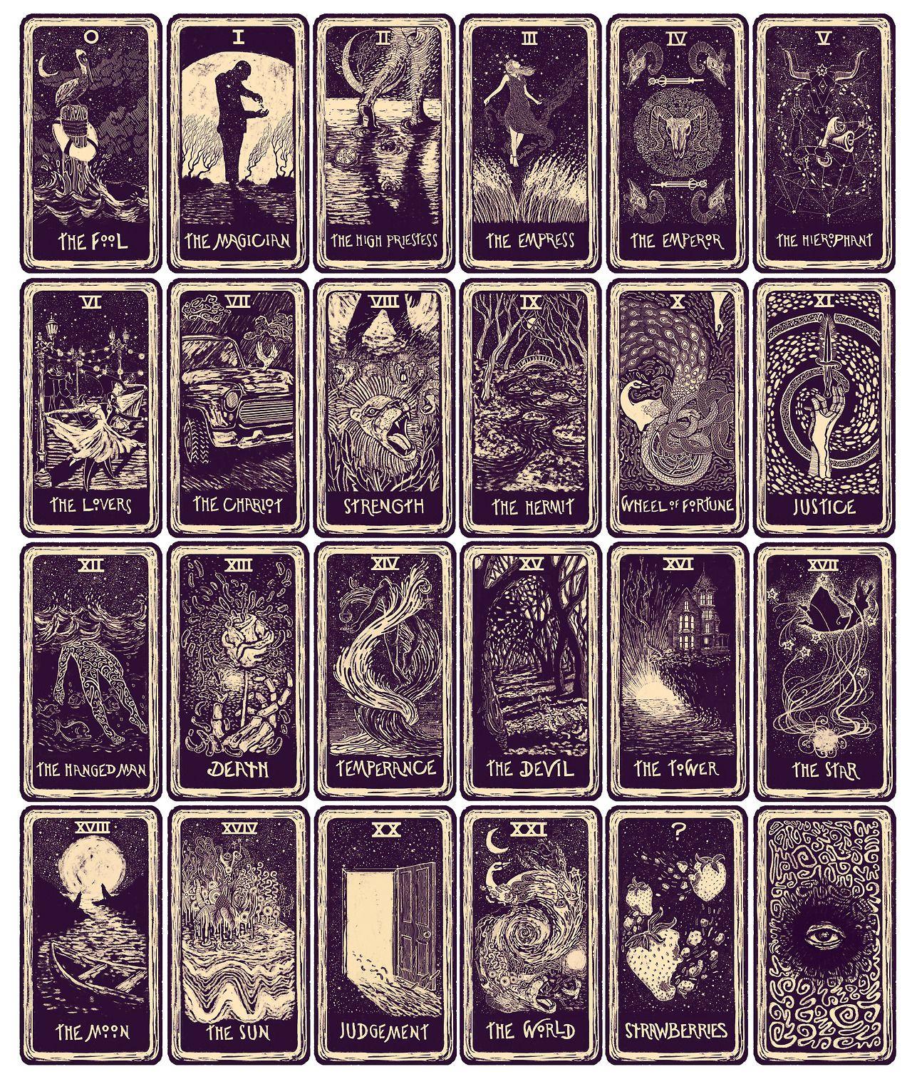 les cartes de tarots j 39 aimerais bien en trouver de semblables celles d 39 elie subliminale. Black Bedroom Furniture Sets. Home Design Ideas