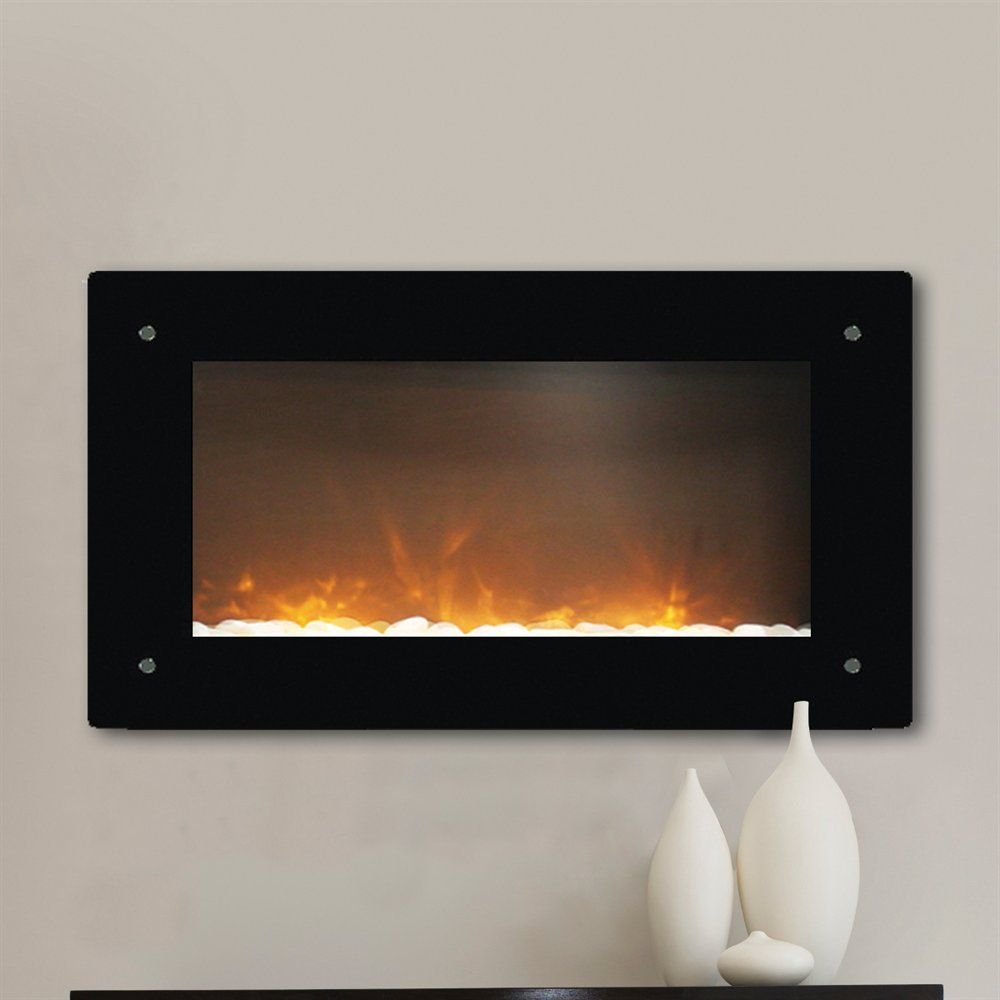 Wall Mount Electric Fireplace from Lowes, instead of baseboard ...