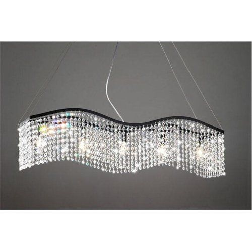 $168 Modern Linear Rectangular Island Dining Room Crystal Chandelier  Lightupmyhome Http://www Part 35