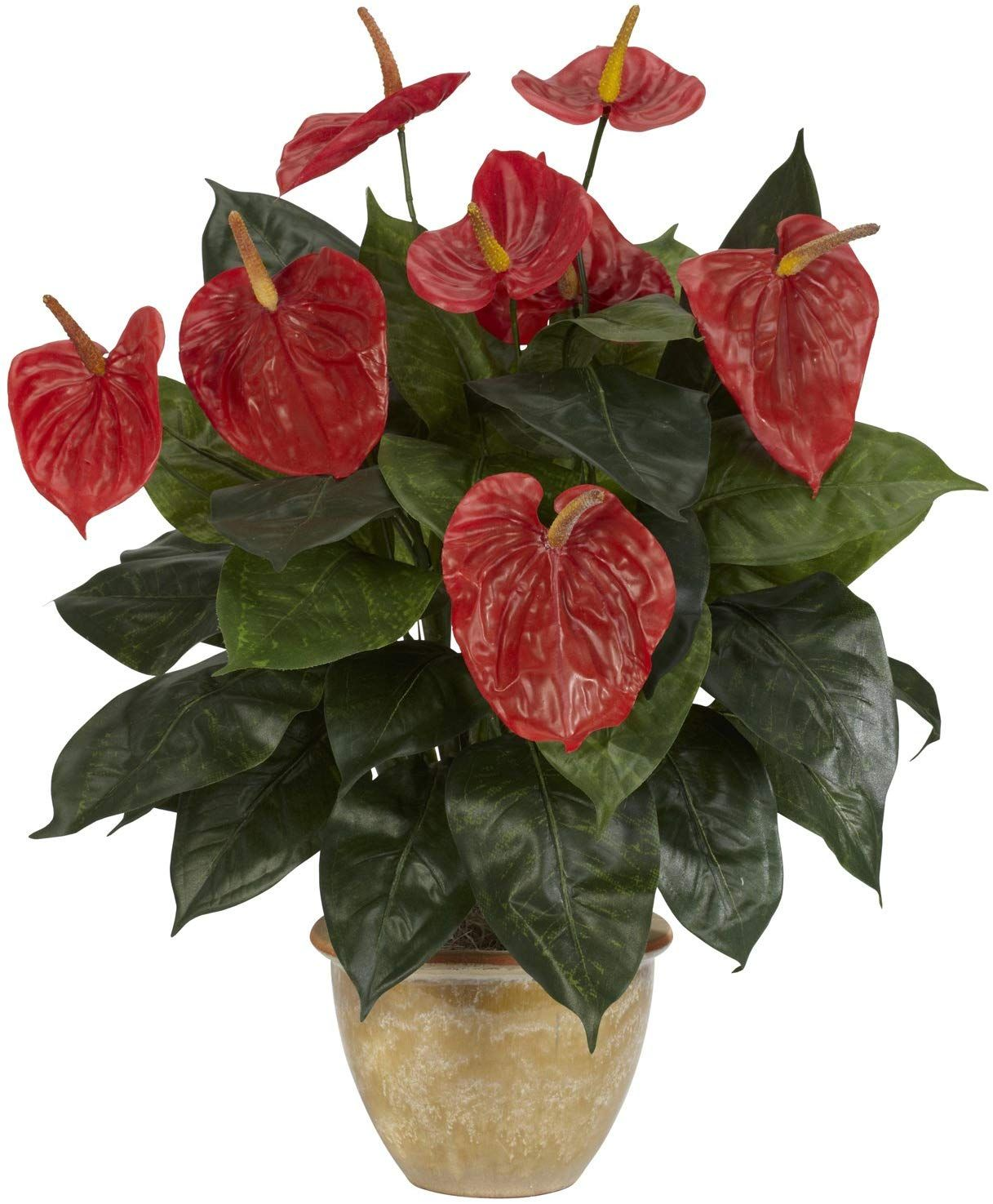 Outdoor Artificial Flowers 20 Best Fake Outdoor Flowers 2020 In 2020 Anthurium Plant Silk Plants Plants