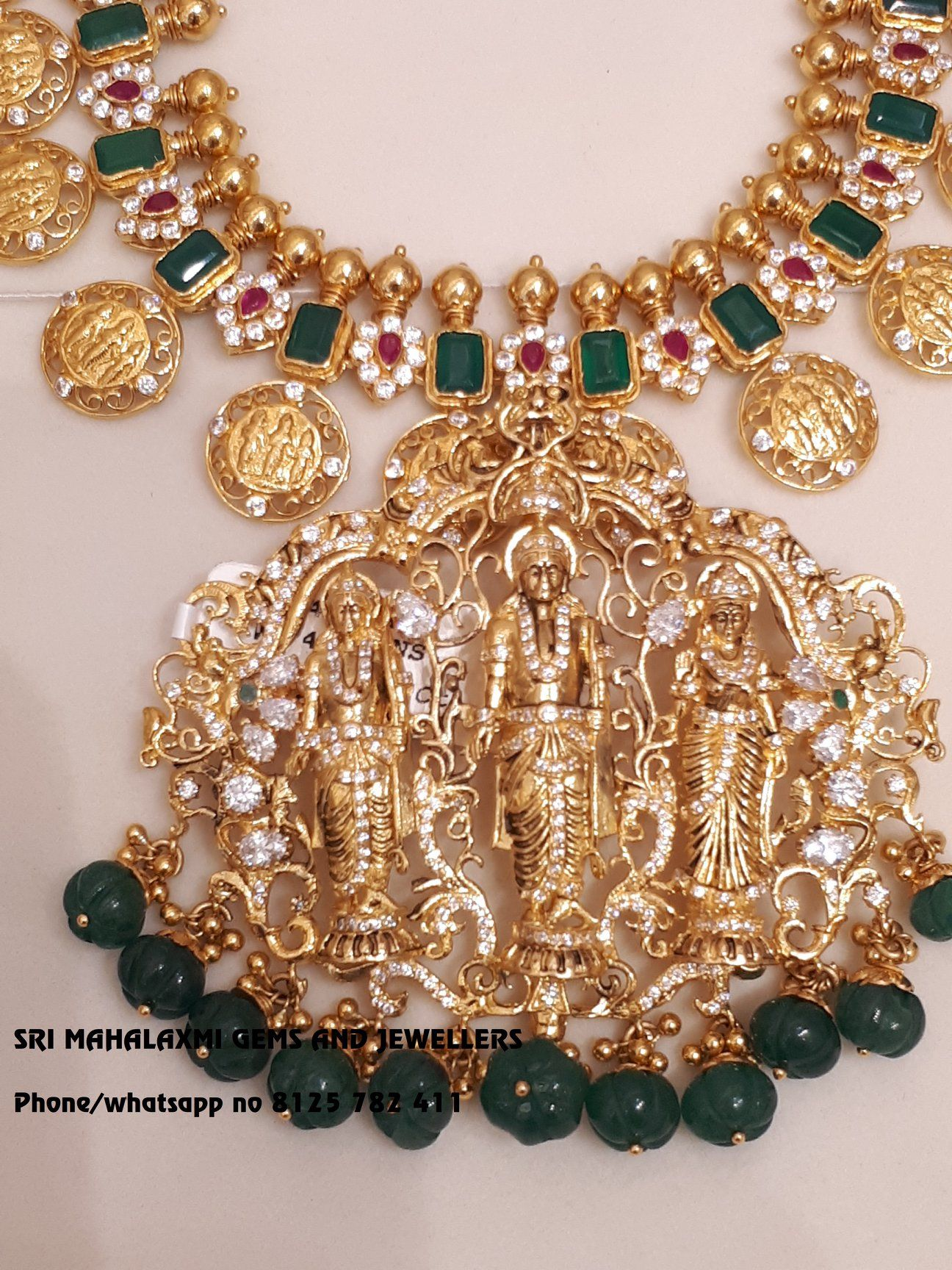Your Destination For Best Designs Ram Parivar Haaram With Detachable Ram Parivar Lo Gold Jewelry Fashion Gold Jewellery Design Necklaces Gold Necklace Designs