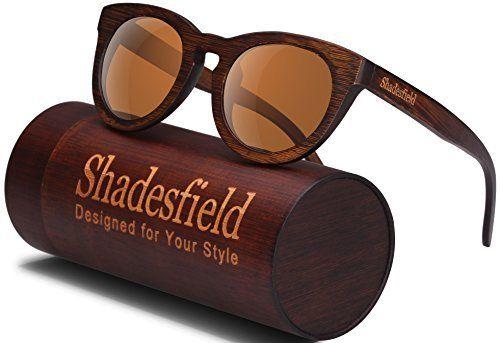 8e6448627ce Wood Polarized Sunglasses Wayfarer Style - 100% UV Protection Bamboo Wooden  Frame with Free Bamboo Gift Case.