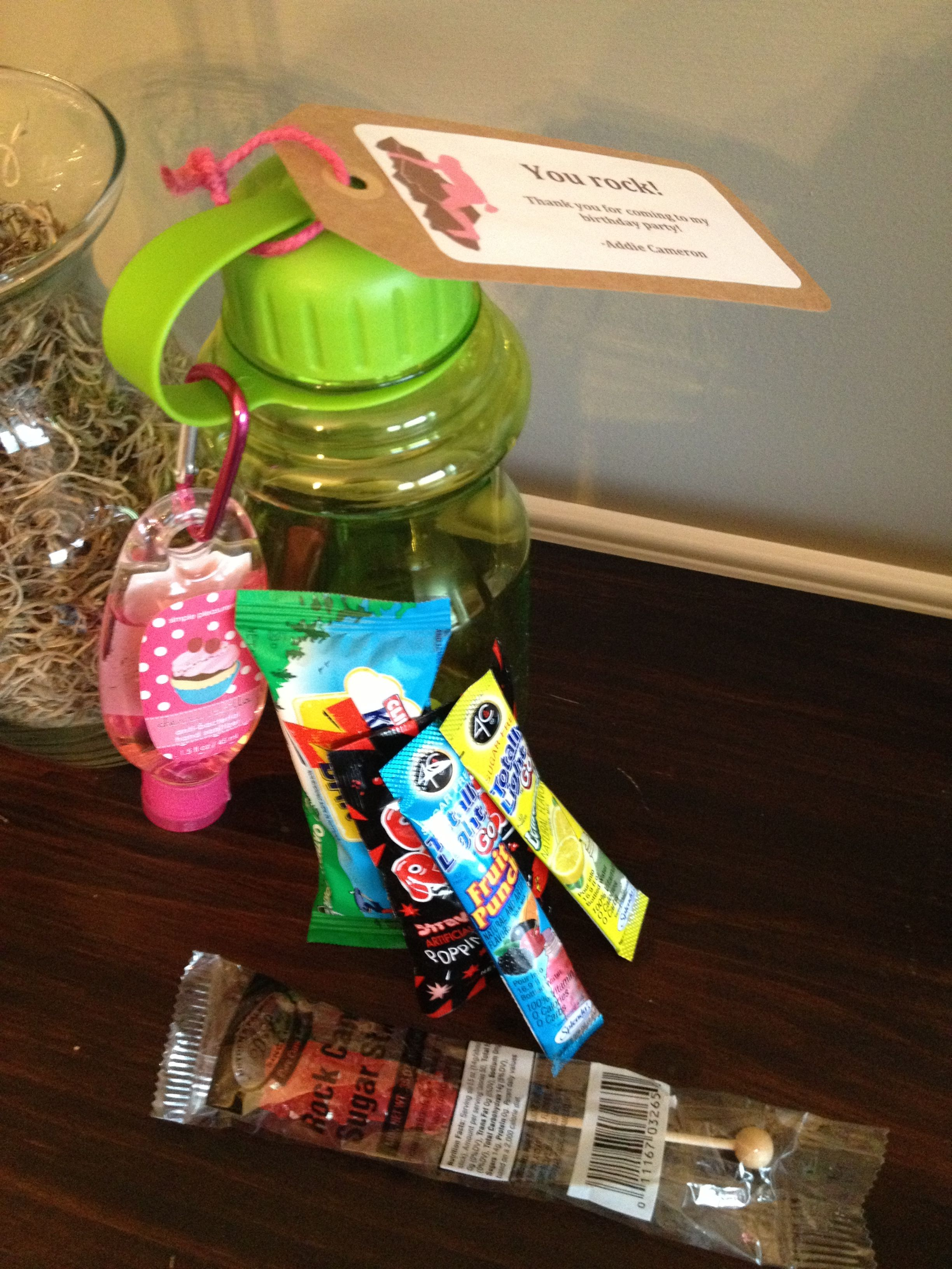 Rock Climbing Party Favors Water Bottle W Carabiner Hand