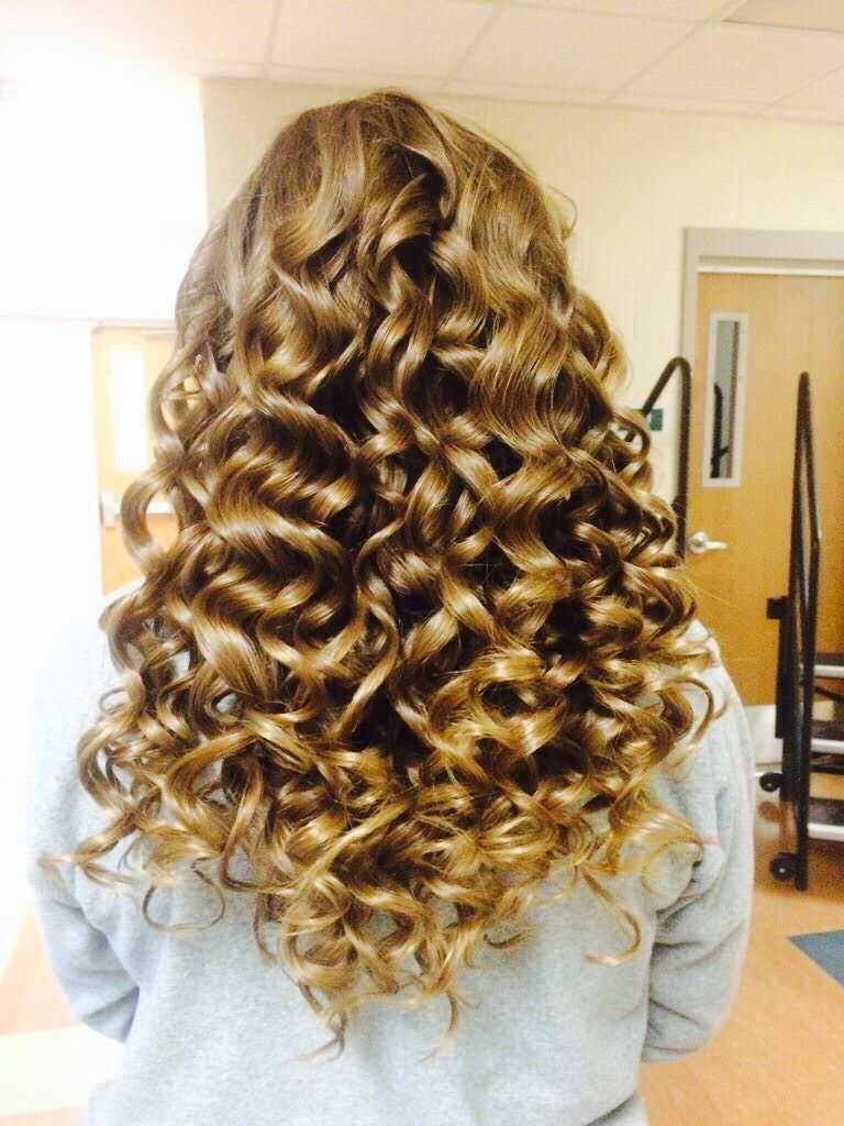 Show choir curls tips small pieces and curl in different