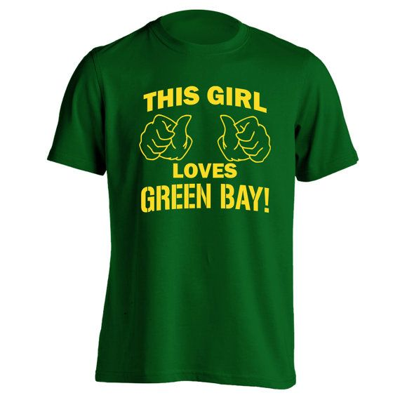 This girl loves green bay funny hip retro cool vintage for Green bay packers retro shirt