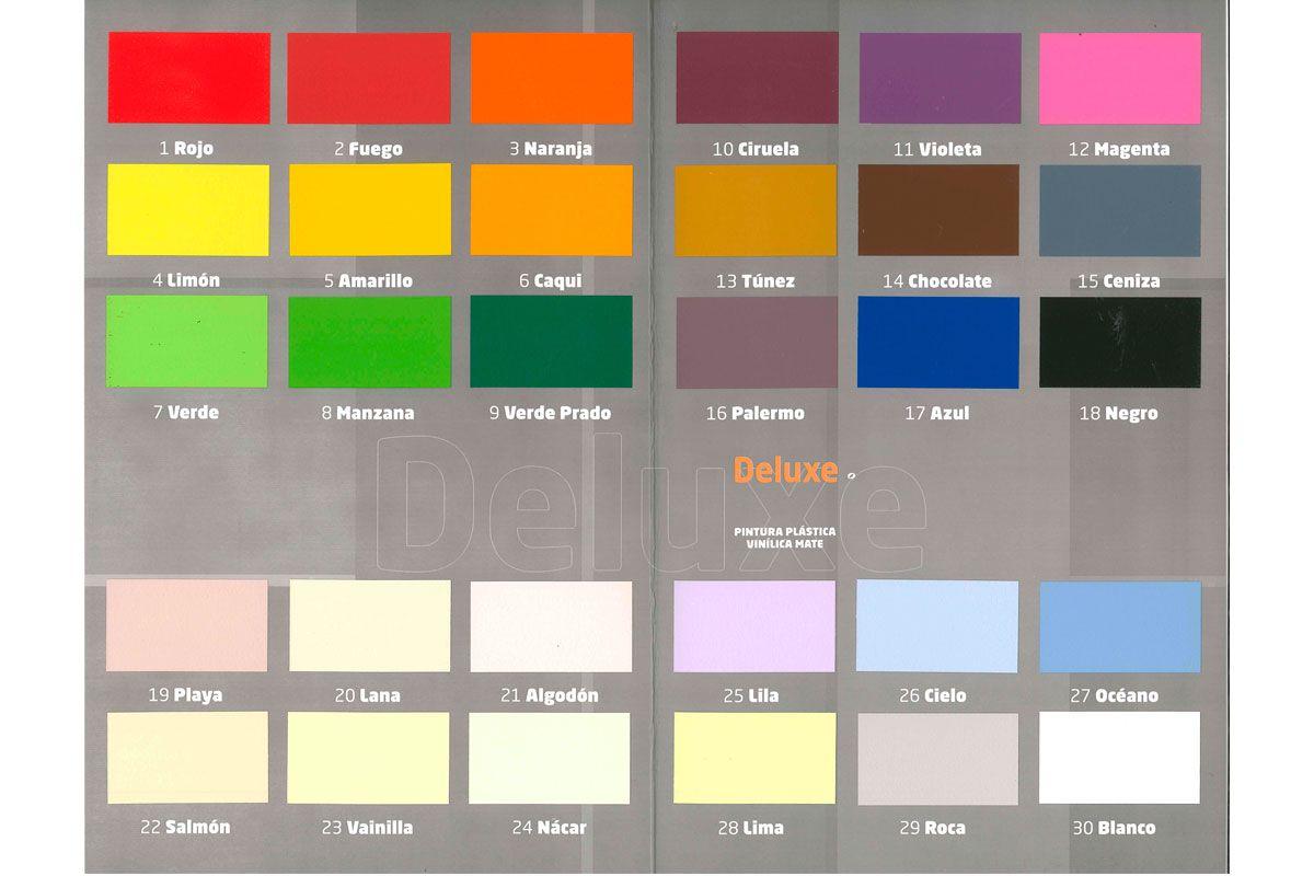 Https Pintureo Com Inicio 95 1053 Pintura Plastica Pinay Deluxe Html 6 Tamano 4 L 39 Col Carta De Colores Pintura Carta De Colores Colores Para Pintar Casas