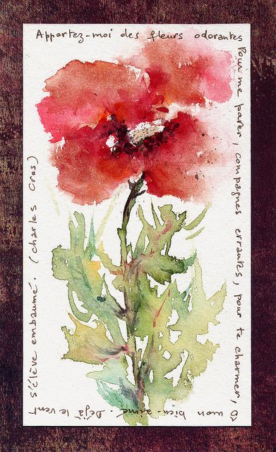 """POESIE """"Fleurs odorantes"""" © (POETRY """"Bring me nice-smelling flowers / To adorn me, wandering partners, / To charm you, o my beloved. / Already the wind rises embalmed.) 