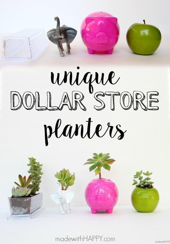 Unique Dollar Store Planters Succulent Planter Diy 400 x 300