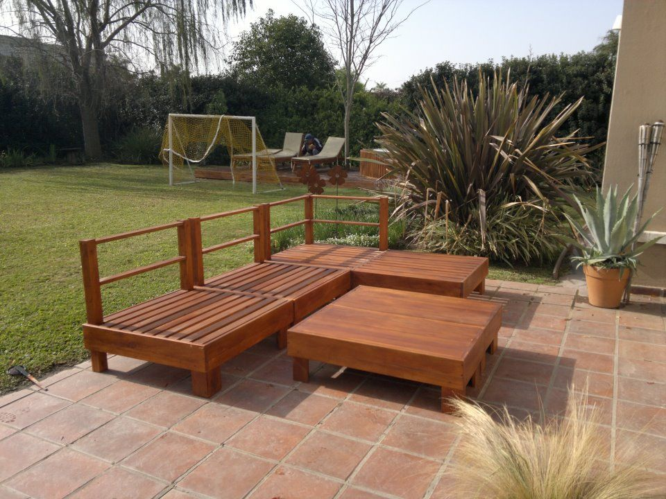 Juego de sillones esquinero para jardin sillones de for Almohadones para sillones jardin