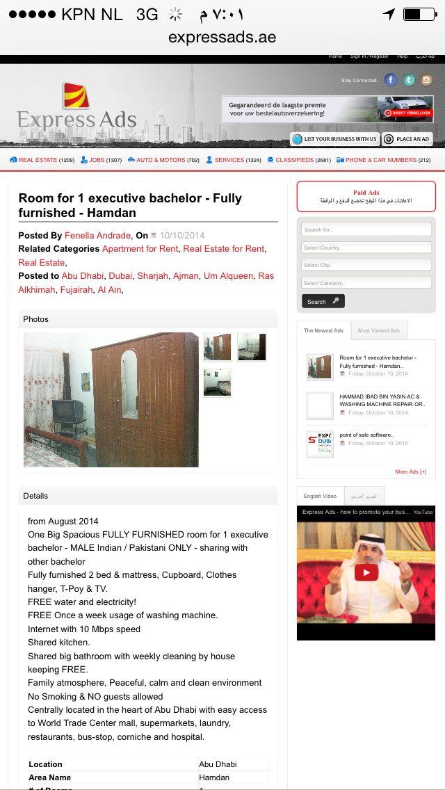 Room for 1 executive bachelor Fully furnished Hamdan