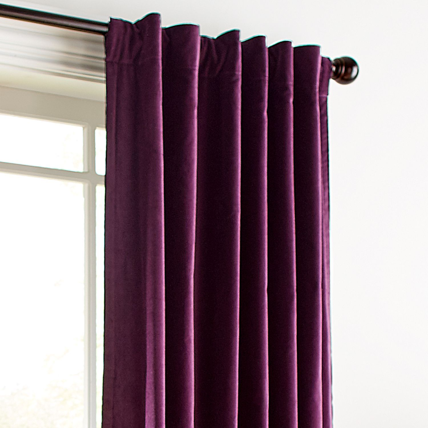 Sheridan Velvet Plum 84 Curtain Pier 1 Imports Purple Curtains Living Room Plum Curtains Living Room Decor Curtains #plum #living #room #curtains