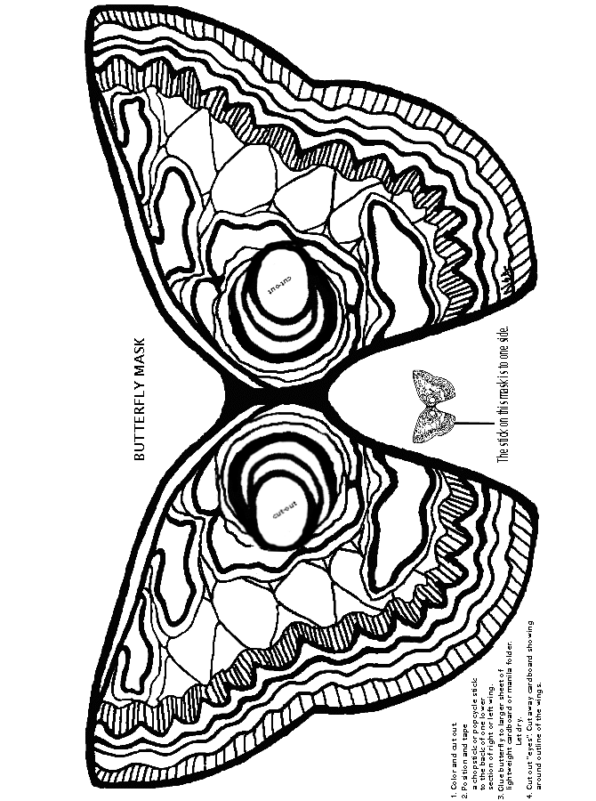 butterfly mask coloring pages | Butterfly Mask -- This would look incredible embroidered ...
