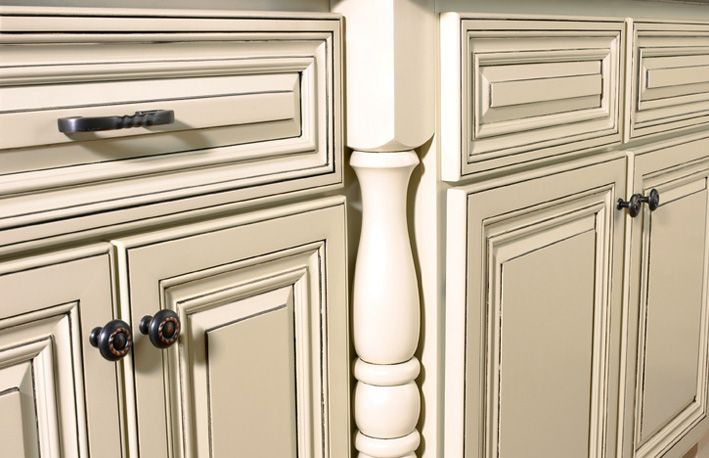 How to paint cabinets white distressed kitchen cabinets for How to paint white cabinets