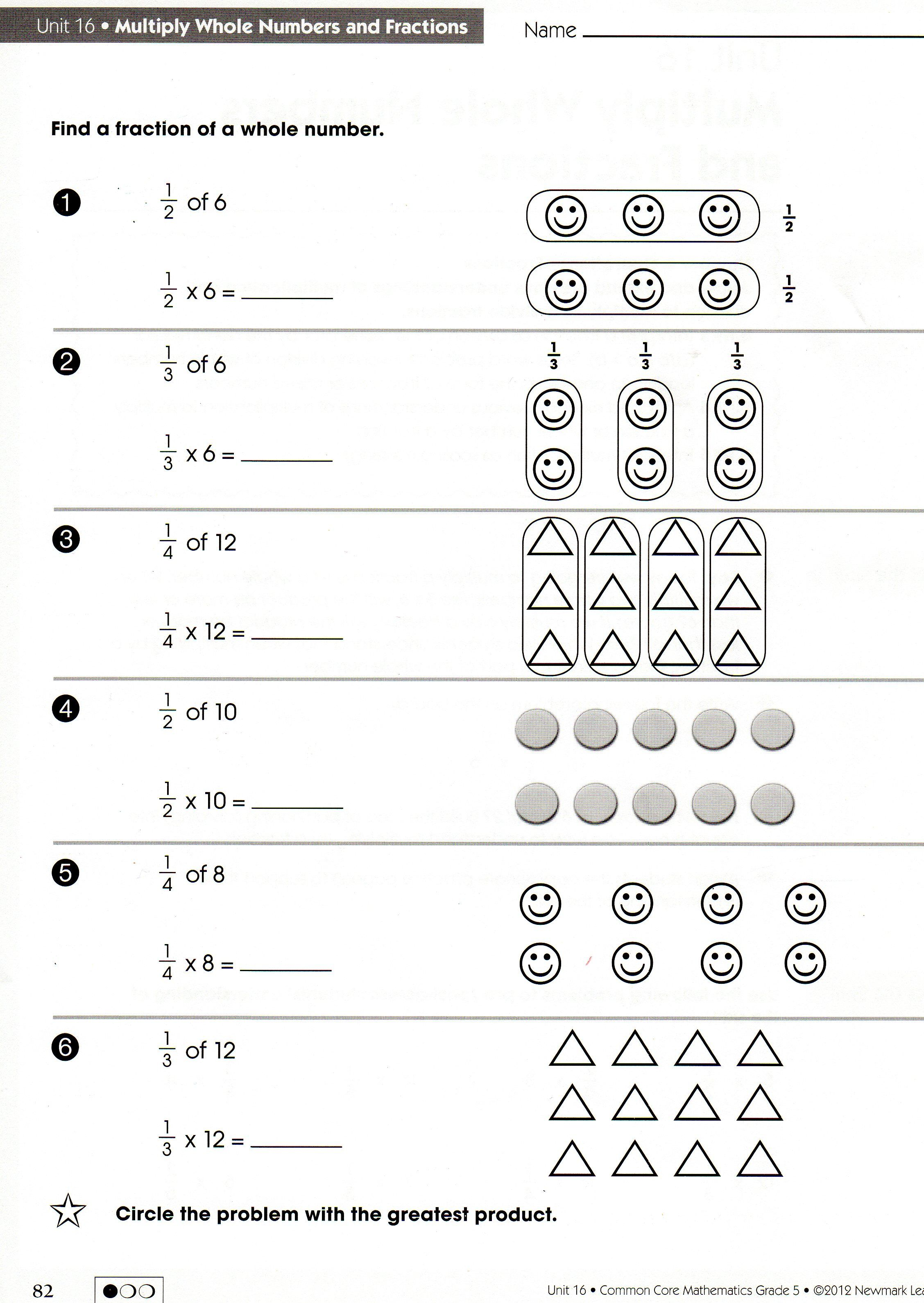 worksheet Multiply Fractions By Whole Numbers Worksheet fraction of a whole worksheet order operations easy worksheets multiply fractions with numbers rounding d580952107232838ebe7f1612eae5a3b numbershtml fracti