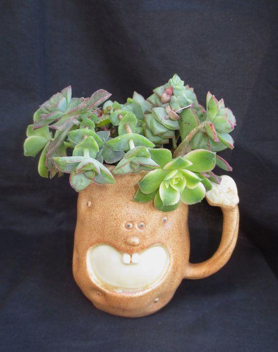 potato head mug planter