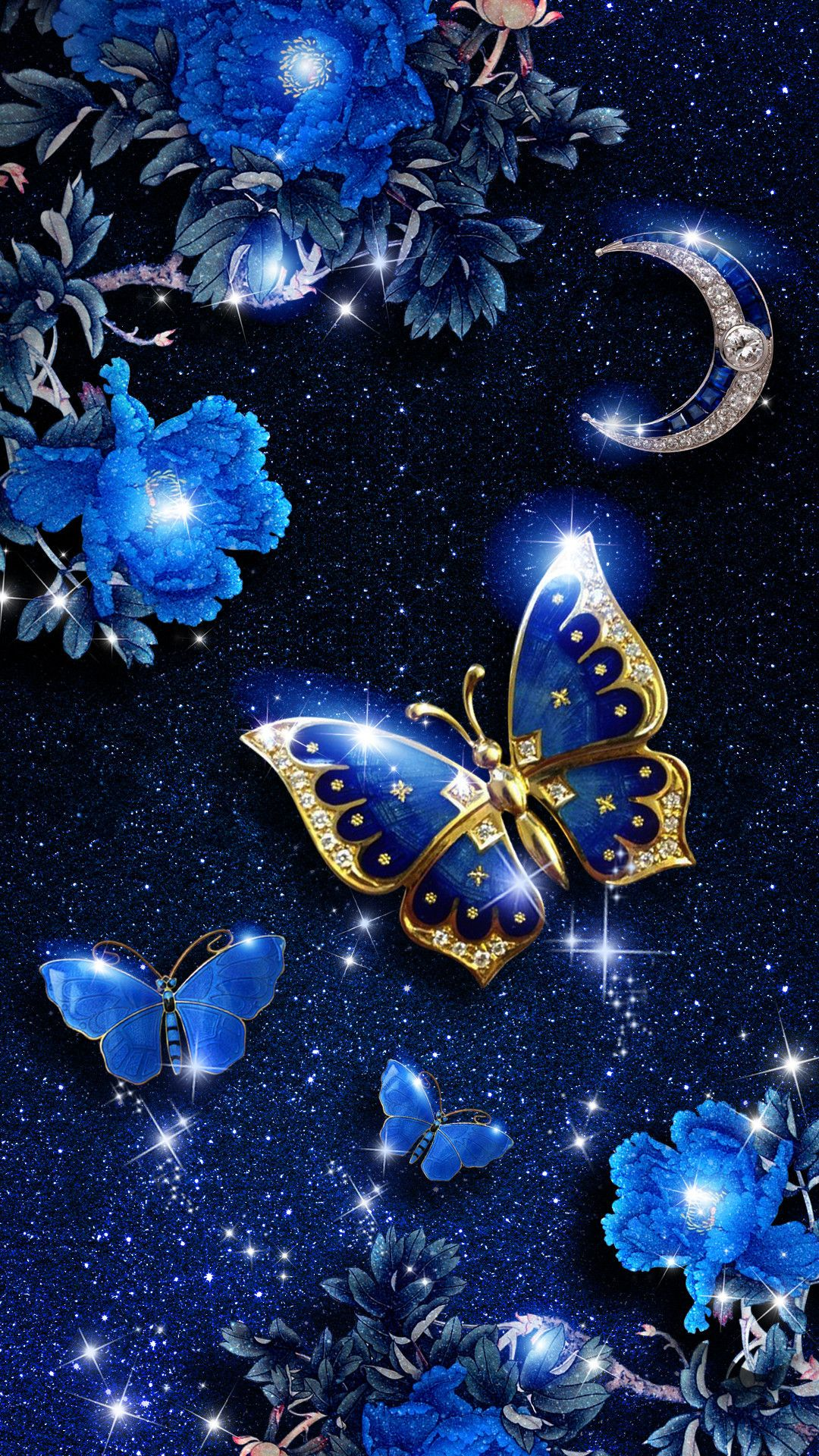 New Android Wallpaper Blue 1080x1920 For Hd Blue Butterfly Wallpaper Butterfly Wallpaper Iphone Android Wallpaper Blue