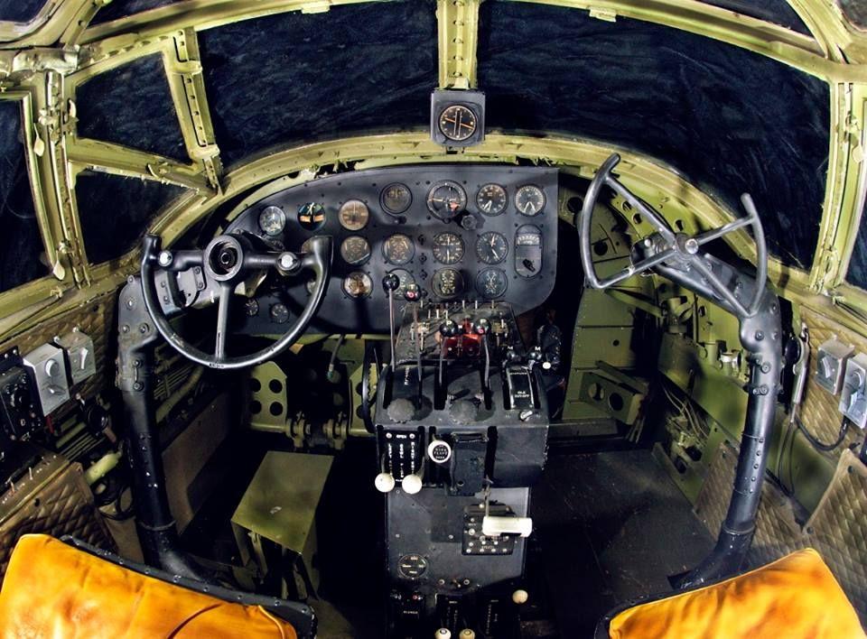 A Rare Glimpse Into The Cockpit Of A Martin B 26 Marauder