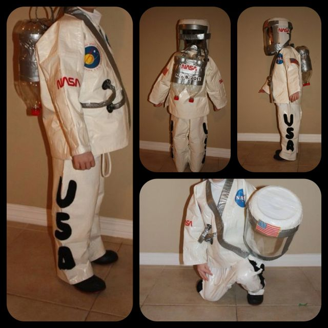 How To Make Astronaut Costumes For Kids Diy Halloween ...
